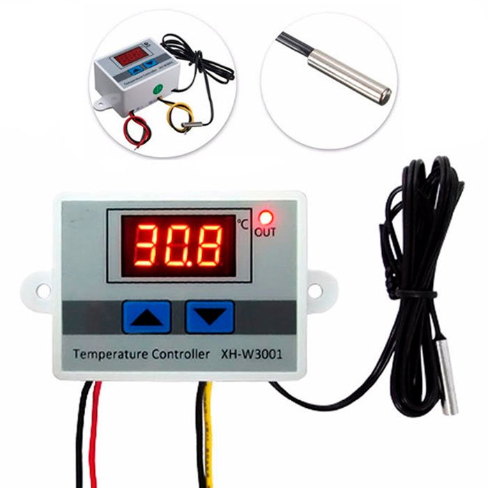 DC //AC Adjustable Digital Temperature Controller Thermostat Timer Switch